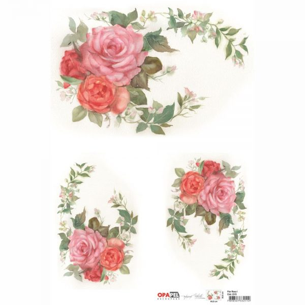 59a060599546 Χαρτί OPAPEL 2315 Flor Rosa I 30×45 cm