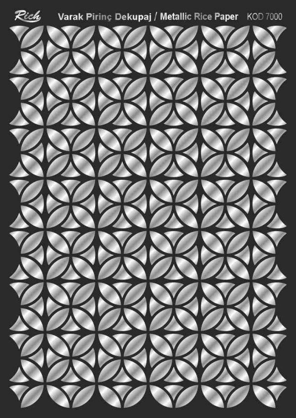 Ριζόχαρτο Rich Soft Silver 29x41 cm 7000