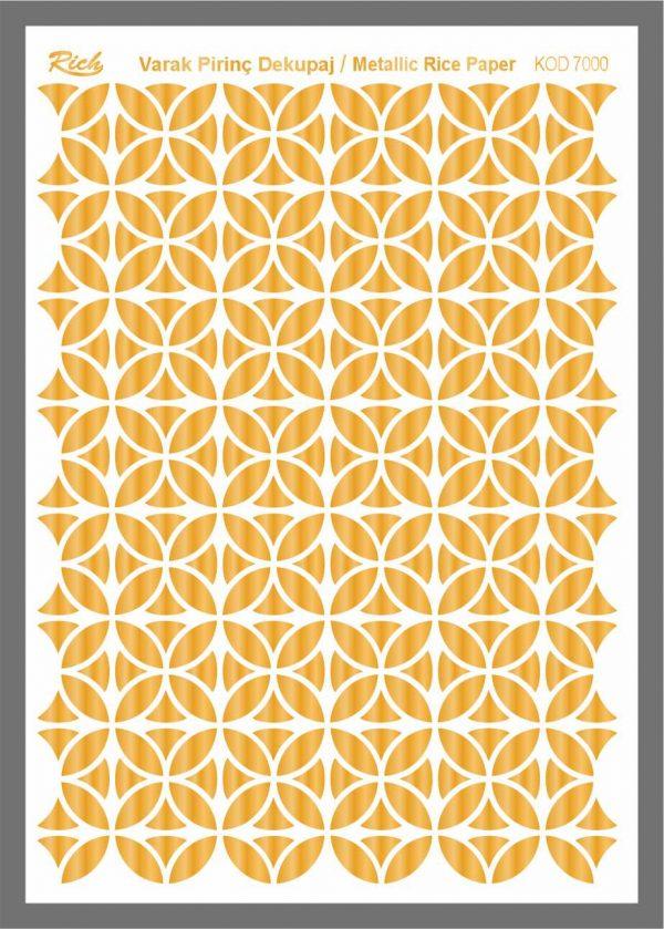 Ριζόχαρτο Rich Gold 29x41 cm 7000