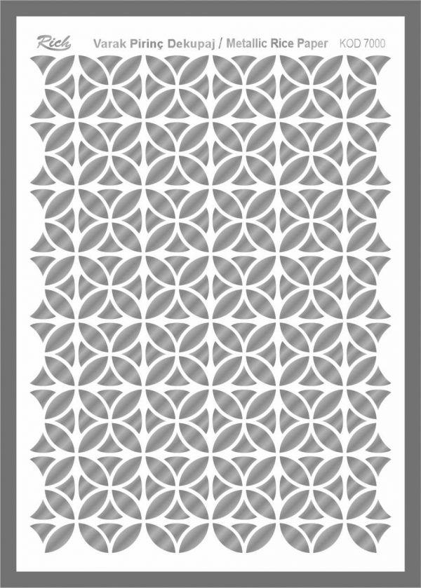 Ριζόχαρτο Rich Silver 29x41 cm 7000