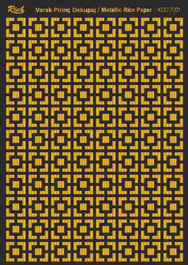 Ριζόχαρτο Rich Soft Gold 29x41 cm 7001