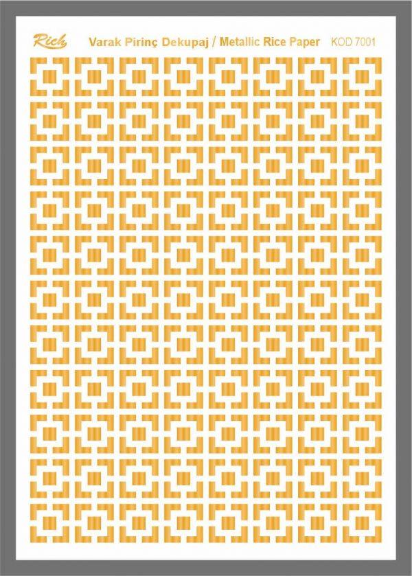 Ριζόχαρτο Rich Gold 29x41 cm 7001