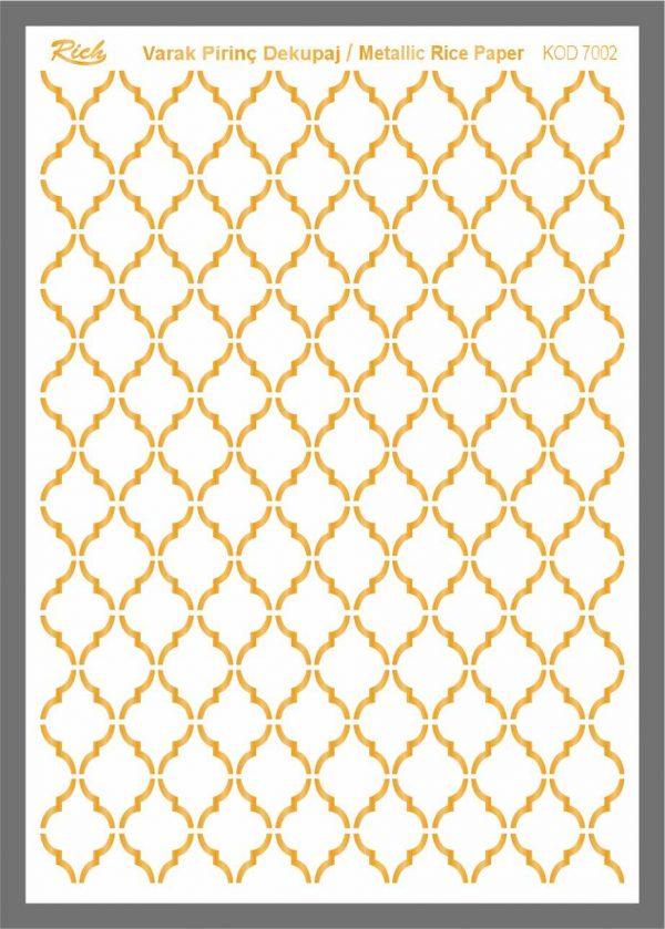 Ριζόχαρτο Rich Gold 29x41 cm 7002