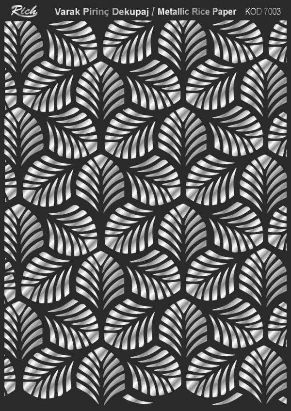 Ριζόχαρτο Rich Soft Silver 29x41 cm 7003