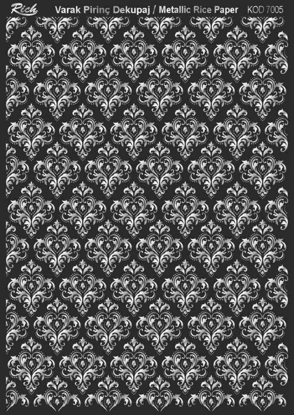 Ριζόχαρτο Rich Soft Silver 29x41 cm 7005