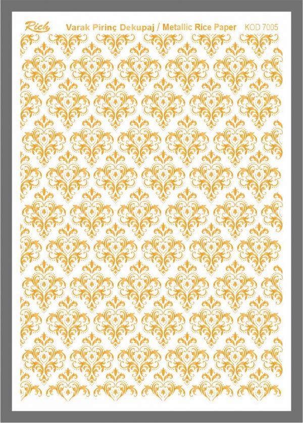 Ριζόχαρτο Rich Gold 29x41 cm 7005