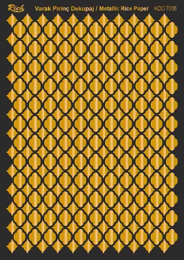 Ριζόχαρτο Rich Soft Gold 29x41 cm 7006