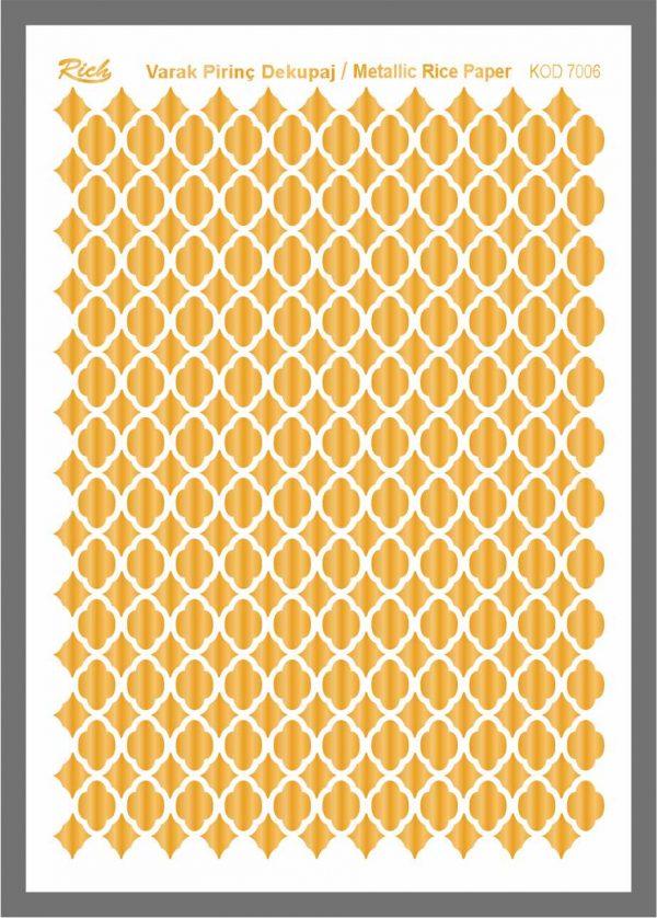 Ριζόχαρτο Rich Gold 29x41 cm 7006