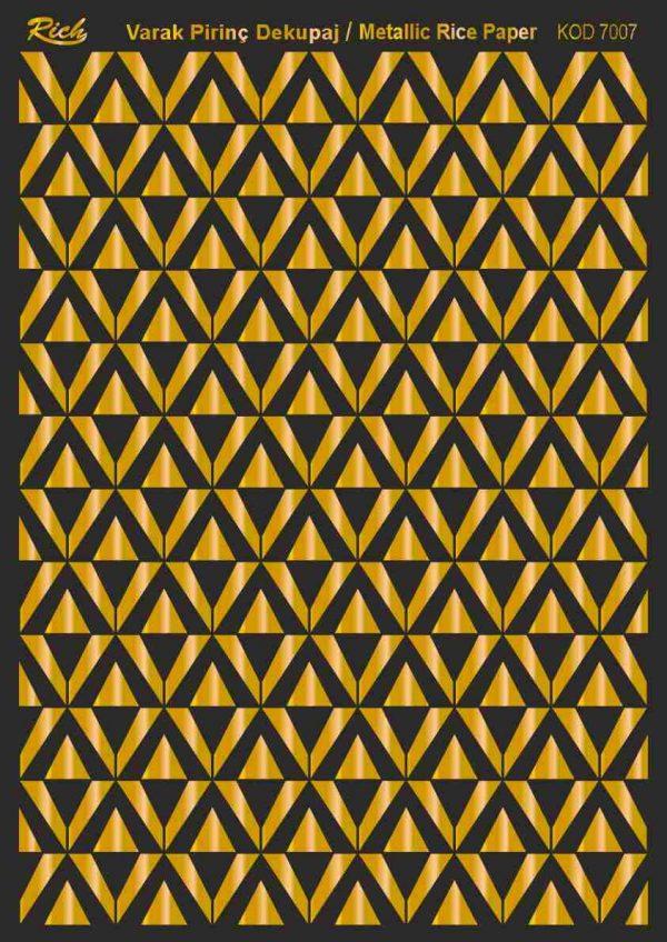 Ριζόχαρτο Rich Soft Gold 29x41 cm 7007