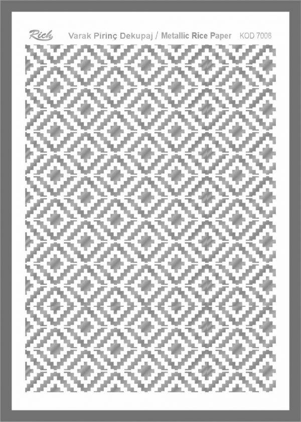 Ριζόχαρτο Rich Silver 29x41 cm 7008