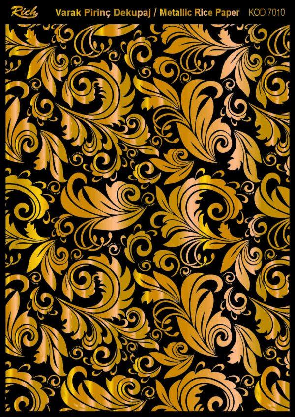 Ριζόχαρτο Rich Soft Gold 29x41 cm 7010