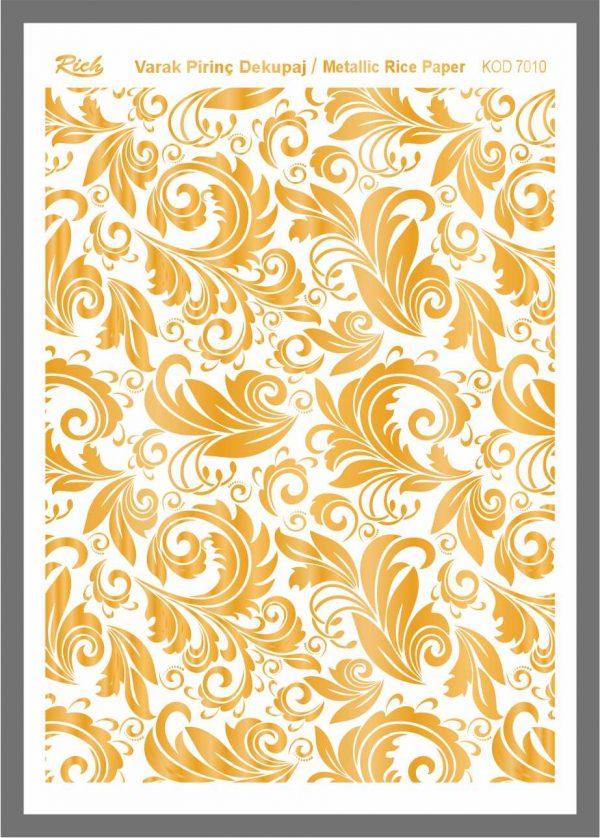 Ριζόχαρτο Rich Gold 29x41 cm 7010
