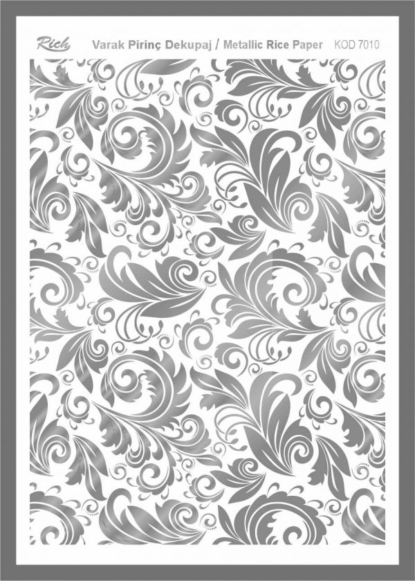 Ριζόχαρτο Rich Silver 29x41 cm 7010