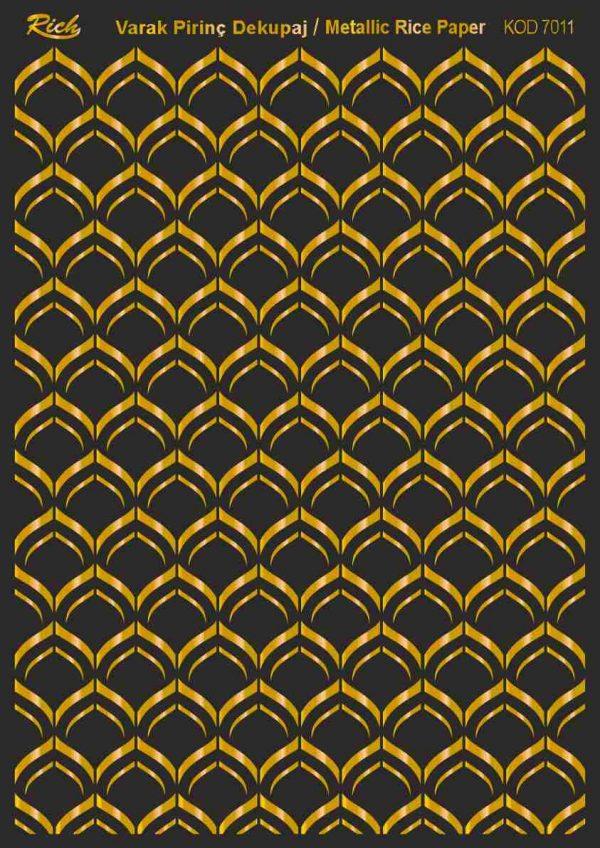 Ριζόχαρτο Rich Soft Gold 29x41 cm 7011