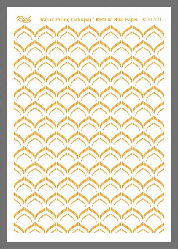 Ριζόχαρτο Rich Gold 29x41 cm 7011