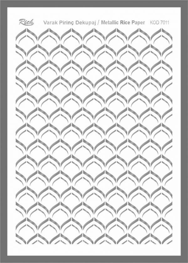 Ριζόχαρτο Rich Silver 29x41 cm 7011