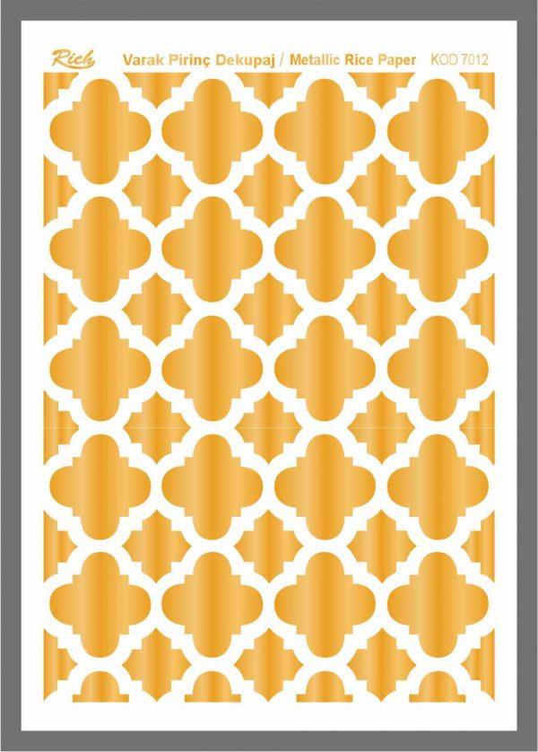 Ριζόχαρτο Rich Gold 29x41 cm 7012