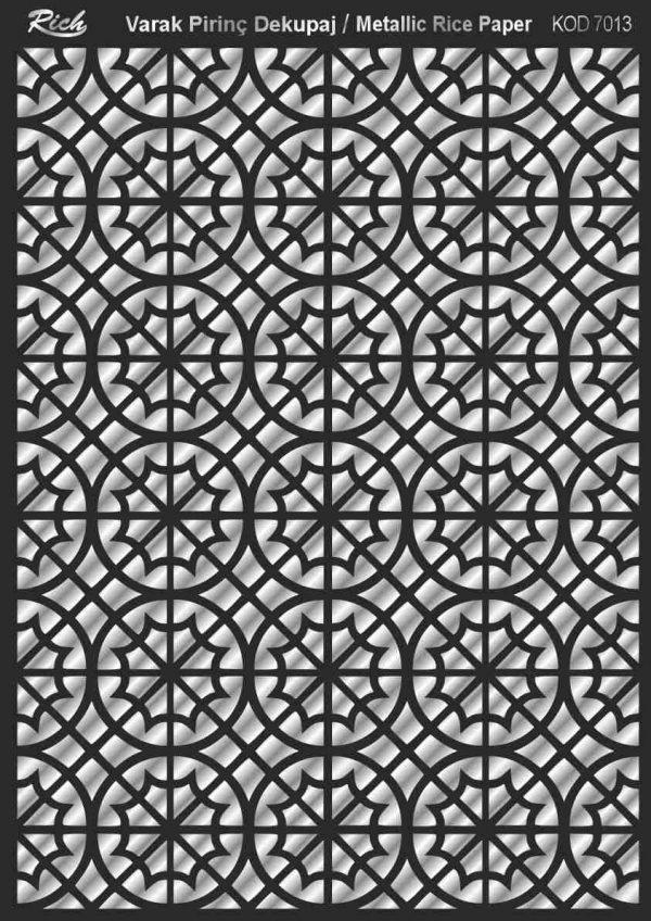 Ριζόχαρτο Rich Soft Silver 29x41 cm 7013