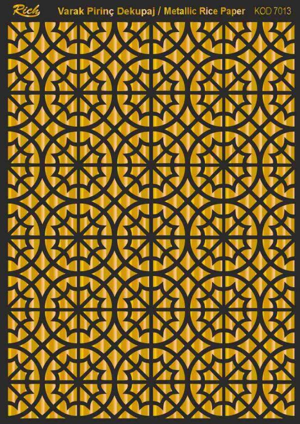 Ριζόχαρτο Rich Soft Gold 29x41 cm 7013