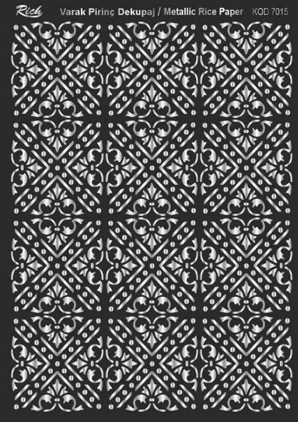 Ριζόχαρτο Rich Soft Silver 29x41 cm 7015