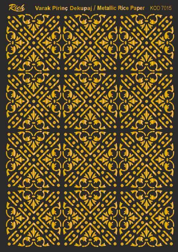 Ριζόχαρτο Rich Soft Gold 29x41 cm 7015
