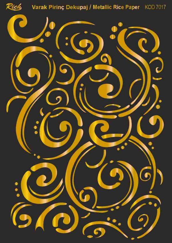 Ριζόχαρτο Rich Soft Gold 29x41 cm 7017