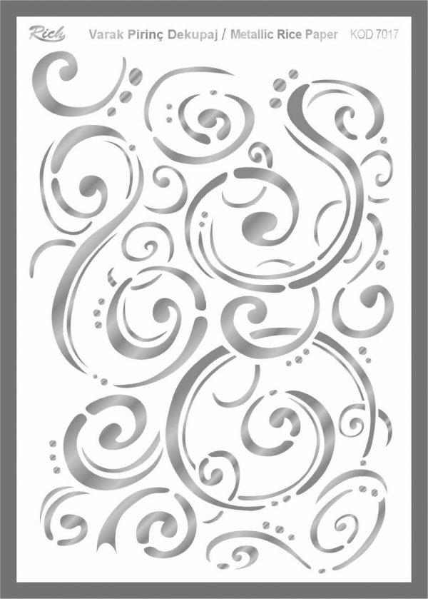 Ριζόχαρτο Rich Silver 29x41 cm 7017