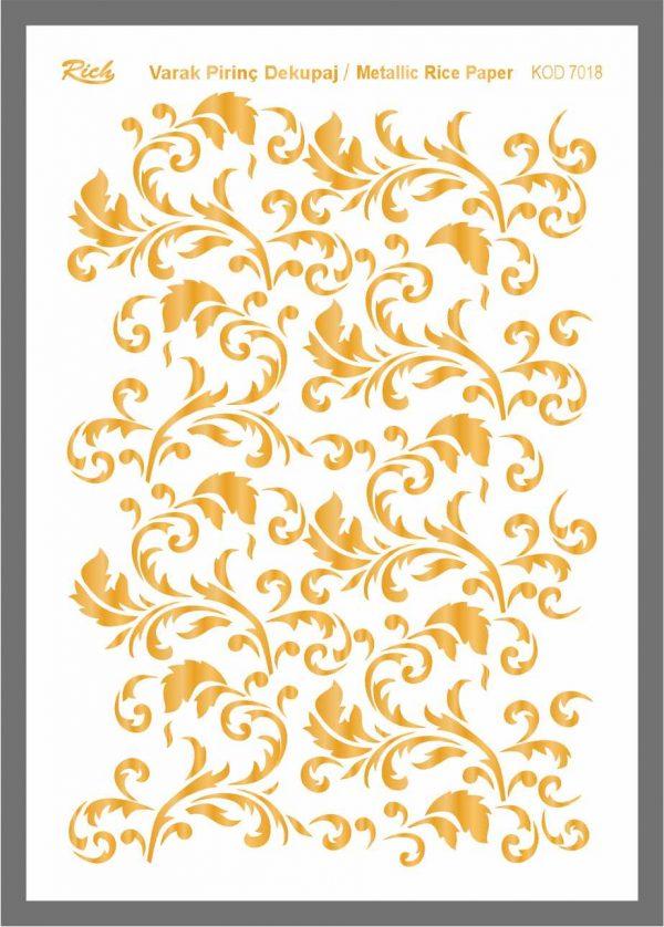 Ριζόχαρτο Rich Gold 29x41 cm 7018