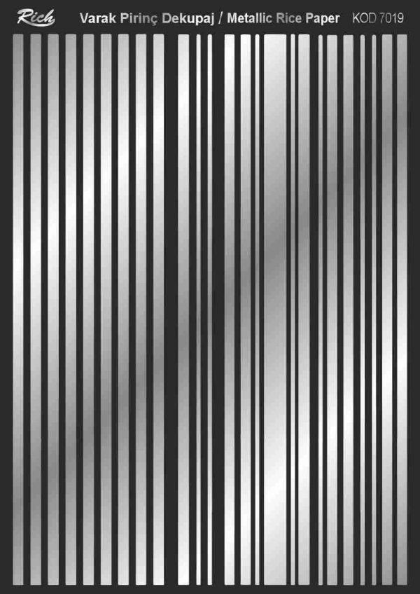 Ριζόχαρτο Rich Soft Silver 29x41 cm 7019