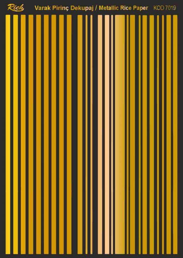 Ριζόχαρτο Rich Soft Gold 29x41 cm 7019