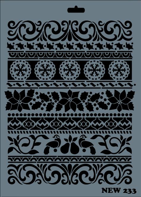 Stencil Rich NEW 233 25x35 cm