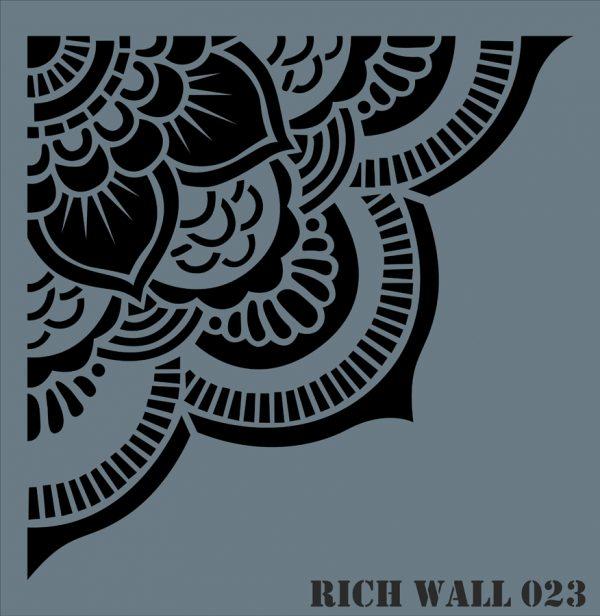 Stencil Rich Wall 50x51 cm Wall-023
