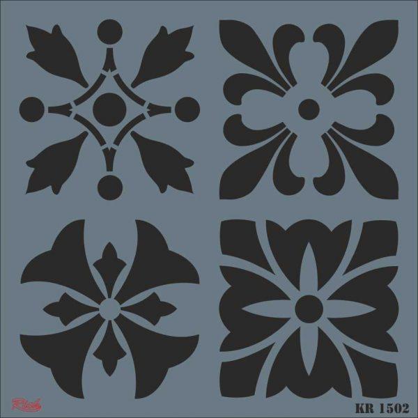 Stencil Rich Tile Serie 30x30 cm KR1502