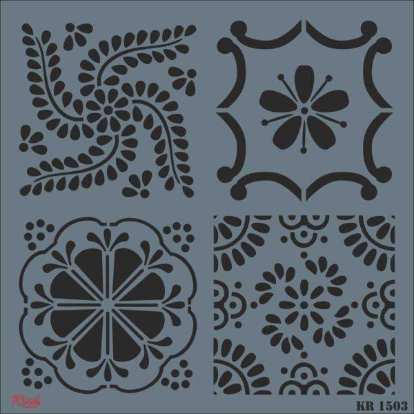Stencil Rich Tile Serie 30x30 cm KR1503